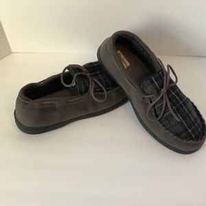 Dearfoams Mens House Moccasin shoes XL